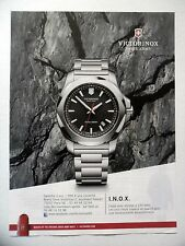 PUBLICITE-ADVERTISING :  VICTORINOX I.N.O.X.  2015 Montres,Swiss Army