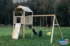 EXCELLENT VALUE CLIMBING FRAME Quality Materials 25sqft BASE RSP £895 GREAT SPEC