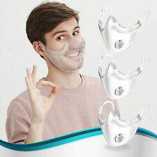 3 PACK Clear Face Mask Transparent Breathing Valve Mask Protective Shield USA