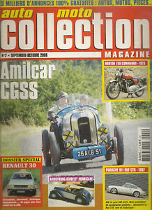 AUTO MOTO COLLECTION 2 DOSSIER RENAULT 30 911 RUF CTR1 FIAT DINO 2400 SPIDER