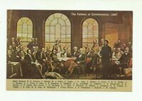 BOBCAYGEON, ONTARIO, CANADA, THE FATHERS OF CONFEDERATION. CHROME POSTCARD