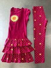 gymboree Size 6 Sunflower Smiles VGUC 2 pc set pink dress pant spring fall BTS