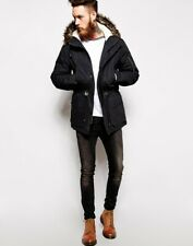 ASOS parka jacket coat warm winter RRP £75 navy blue  XL extra large  new