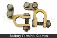 Small Post Brass Car Battery Positive Negative Terminals Clamps Japanese Type
