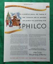 1944-1945 WWII Era Lot (3) Print Ads ~ Philco Radio & Phonograph