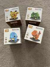 4 X Nano Block Pokemon LOZ Diamond Mini Building Blocks Toys Pocket Monster New