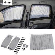 Pair Car Side Window Sunshade Curtain Sun Shade Cover For UV Protection Gray SG