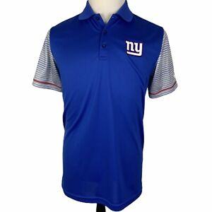 NWOT New York Giants Nike Polo Shirt Medium Blue Gray Striped NFL On Field
