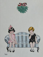 DARGER HENRY (1892-1973)  GRAVURE EN COULEURS, ORIGINALE DE 1930