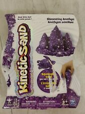 Kinetic Squeezable Play Sand 1lb SHIMMERING AMETHYST Never Dries Out (PURPLE)
