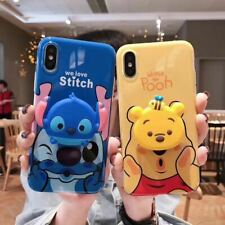 Cute Winnie Pooh stitch fitted Case Cover for iphone MAX XS XR 6 7 8 plus X