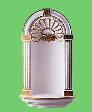 Vetrina Niche Bellissimo Tempio Ornato Statua Di Parete Custodia Foto Stand Oro