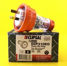 Clipsal 56P310EO / 56P310 3 flat Pin Extension Lead Male Plug 10A 250V IP66
