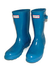 HUNTER Original Short Rain Boots, Vivid Blue, 37, 6 - 7