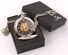 Exceptional Silver Plated Hand Winding Watch Open Back!!! Mechanical