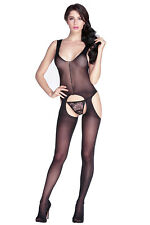 Sheer suspender tank body stocking exotic apparel no pattern clubwear sexy solid