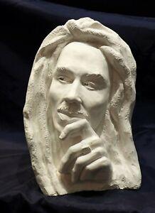 Marley Bust Sculpture, A casting of original art work, made in gypsum.