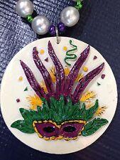 Mardi Gras Mask Beads Set of 4  New w/ Tags Pearls, Purple, Gold, Green Yellow
