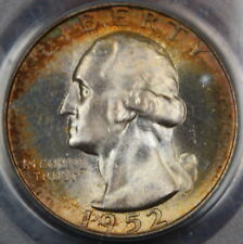 1952-S Silver Washington Quarter PCGS MS-66 *Toned*