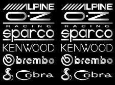 12x Chrome Vinyl Car Door Stack Stickers,Graphics,Decals