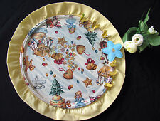 HANDMADE CHRISTMAS SPECIAL ROMANTIC  DECORATIVE GLASS PLATE ACRYL MULTI  COLORS