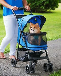 NEW Pet Gear Happy Trails NO-ZIP Dog Cat Stroller Easy-Locking Zipperless