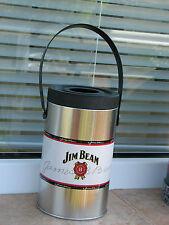 Ice bucket Jim Beam vodka whiskey used metal