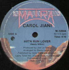CAROL JIANI - Hit 'N Run Love - Mantra - W-12044 - Usa