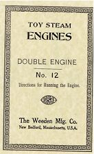 TOY STEAM ENGINES [BOOKLET] DOUBLE ENGINE No. 12 - New Softcover Copy - USA