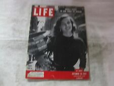 Life Magazine October 29th 1951 Props For TV Cover Published By Time       mg511