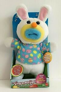 """Sing A Ma Jig Easter Plush 9"""" Peter Cottontail New in Box Ages 3+"""
