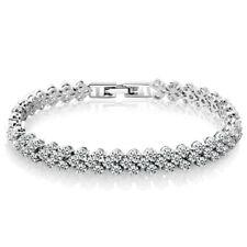 Damen Frauen Funkelnde Kristall Strass Armband Hochzeit Braut Schmuck Geschenk