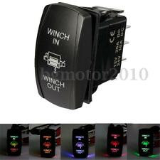 7Pin Laser Momentary Rocker Switch Winch In Winch Out 20A 12V LED Light 5 Colors