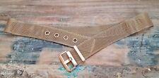 """Vintage Gold Woven Mesh Metal Belt Size 28.5""""-31.5"""""""