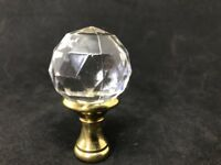 Lamp Finale Mid Century Deco Faceted Crystal Glass Brass