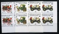 Djibouti Stamps # 587-7 Mint XF NH Imperf block Cars