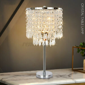 Crystal Table Night Light LED Desk Lamp For Home Living Room Bedroom Decor US