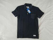 Adidas Para Hombre Camisa Polo Logotipo Triángulo Azul Marino Originals XS BNWT
