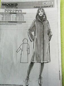 Patron de couture femme manteau à capuche