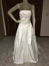 Diamond Bridal Wedding Dress Guessing Size 8 size tag missing see measurements