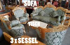 BAROCK SITZGRUPPE, DREISITZER SOFA + 3 x SESSEL + TISCH, COUCH GARNITUR 5-er SET