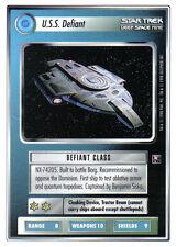 STAR TREK CCG DS9 WHITE BORDER PREVIEW CARD U.S.S. DEFIANT