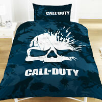 Call of Duty COD Skull Single Duvet Set Camo