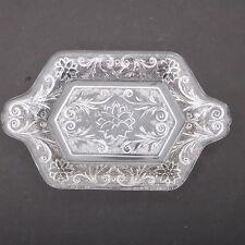 Clear Glass Flower & Garland Pattern Plate