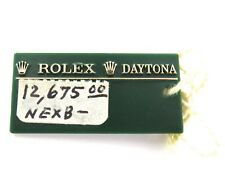 VINTAGE ROLEX MENS DAYTONA GREEN SWING TAG.