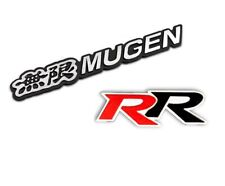 3D Aluminum Black MUGEN+RR Car Front/Rear Badge Fender Body Emblem Decal Sticker