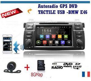 autoradio bmw e46 318 320 325 330 M3 + GPS + WIFI+ camera recul + câble 6 Metres