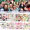 60x Hawaii Theme Photo Booth Props Mask On A Stick Mustache Wedding Birthday DIY