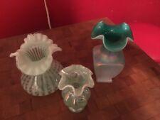 Fenton Green Vase Collection Marked!