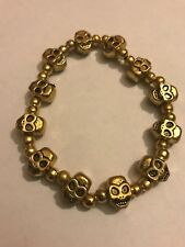 Golden Skull Unisex Punk Fashion Jewelry Bracelet